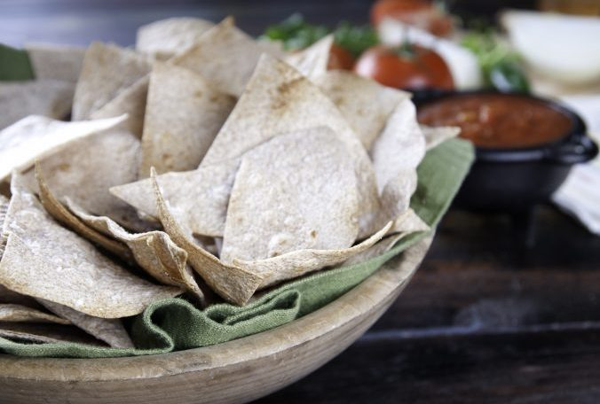 Baked Whole Wheat Tortilla Chips
