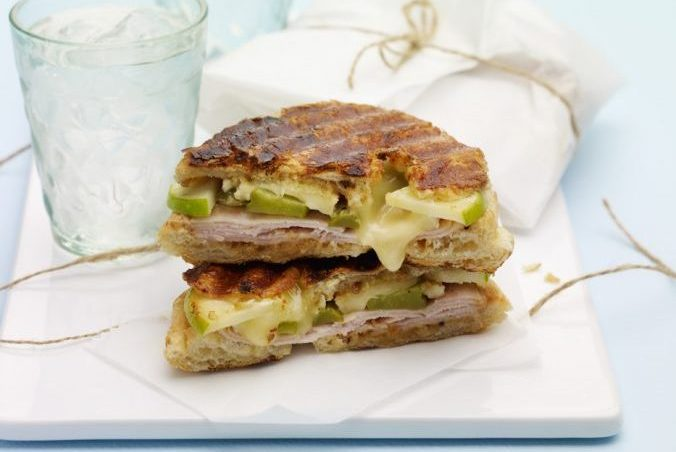 Brie, Apple and Smoked Turkey Croissant Panini