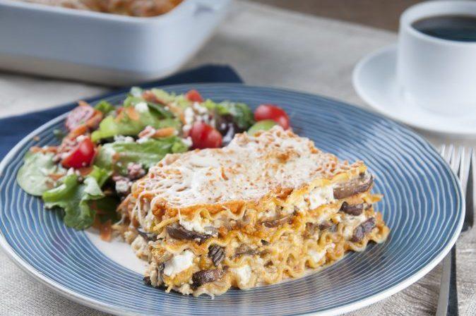 Pumpkin Mushroom Lasagna
