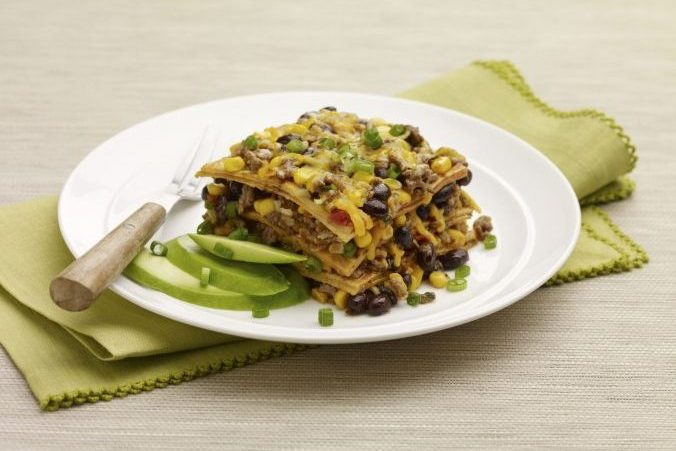 Tortilla Wheat Berry Bake