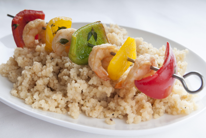 Couscous & Shrimp Kabobs
