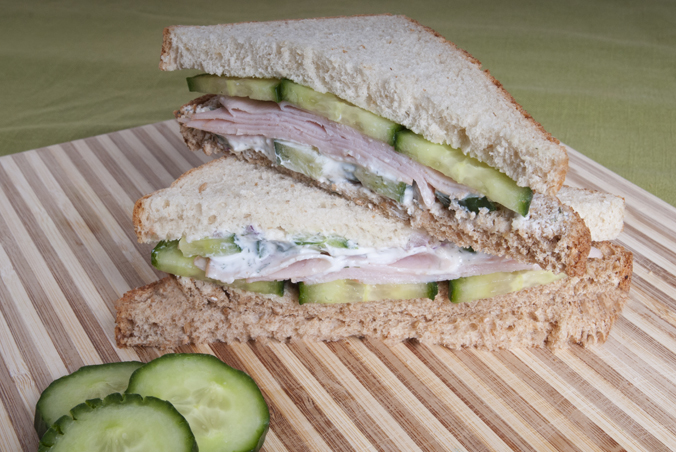 turkey and cucumber sandwich