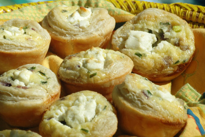 Onion and Goat Cheese Tartlets